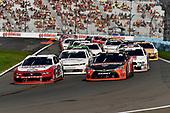 #12: Brad Keselowski, Team Penske, Ford Mustang Wabash National and #18: Ryan Preece, Joe Gibbs Racing, Toyota Camry Craftsman