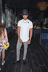 Justiin Davis attends the Romeo Hunte Spring Summer 2019 collection runway show in PH-D at Dream Downtown New York City on July 11, 2018; during New York Fashion Week: Men's Spring Summer 2019.