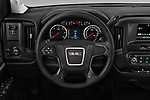 Car pictures of steering wheel view of a 2018 GMC Sierra 3500HD Double 4WD Cab Long Box 4 Door Pick Up