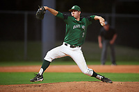 Dartmouth Big Green relief pitcher Marc Bachman (21) delivers a pitch during a game against the Northeastern Huskies on March 3, 2018 at North Charlotte Regional Park in Port Charlotte, Florida.  Northeastern defeated Dartmouth 10-8.  (Mike Janes/Four Seam Images)