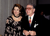 FILE PHOTO -  Louise Deschatelets (L) with her husband Guy Fournier in 1994