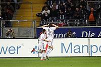 Torjubel Daniel van Buyten (Bayern)<br /> Eintracht Frankfurt vs. FC Bayern Muenchen, Commerzbank Arena<br /> *** Local Caption *** Foto ist honorarpflichtig! zzgl. gesetzl. MwSt. Auf Anfrage in hoeherer Qualitaet/Aufloesung. Belegexemplar an: Marc Schueler, Am Ziegelfalltor 4, 64625 Bensheim, Tel. +49 (0) 6251 86 96 134, www.gameday-mediaservices.de. Email: marc.schueler@gameday-mediaservices.de, Bankverbindung: Volksbank Bergstrasse, Kto.: 151297, BLZ: 50960101