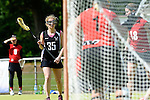 GER - Hannover, Germany, May 30: During the Women Lacrosse Playoffs 2015 match between SCC Blax Berlin (red) and KIT SC Karlsruhe (black) on May 30, 2015 at Deutscher Hockey-Club Hannover e.V. in Hannover, Germany. Final score 17:7. (Photo by Dirk Markgraf / www.265-images.com) *** Local caption *** +k35+