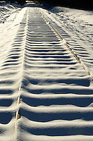 Snow Photography - Photography of  snow covered railroad tracks in Davidson North Carolina. <br /> <br /> Charlotte Photographer - PatrickSchneiderPhoto.com