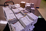 May 13, 2021: A pile of Daily Racing Forms waits for bettors at Pimlico Race Course in Baltimore, Maryland. Scott Serio/Eclipse Sportswire/CSM