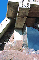 Paolo Soleri: ARCOSANTI. Detail--window, side of foundry. Photo '76.