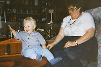 Pictured: Michael Bowen when he was 2 years old. Wednesday 10 January 2018<br /> Re: Peter Bower Racing in Little Newcastle, west Wales, UK.
