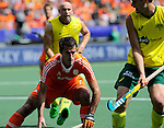 The Hague, Netherlands, June 15: Marcel Balkestein #5 of The Netherlands in action during the field hockey gold match (Men) between Australia and The Netherlands on June 15, 2014 during the World Cup 2014 at Kyocera Stadium in The Hague, Netherlands. Final score 6-1 (2-1)  (Photo by Dirk Markgraf / www.265-images.com) *** Local caption ***