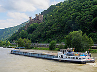 Burg Rheinstein am Rhein, Rheinland-Pfalz, Deutschland, Europa, UNESCO Weltkulturerbe<br /> Castle Rheinstein at river Rhine, Rhineland-Palatinate, Germany, Europe