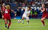 Carson, CA - Thursday August 03, 2017: Mina Tanaka during a 2017 Tournament of Nations match between the women's national teams of the United States (USA) and Japan (JAP) at StubHub Center.