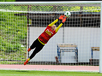 20190304 - LARNACA , CYPRUS : Austrian goalkeeper Manuela Zinsberger pictured during warming up of a women's soccer game between Slovakia and Austria , on Monday 4 th March 2019 at the GSZ Stadium in Larnaca , Cyprus . This is the third and last game in group C for both teams during the Cyprus Womens Cup 2019 , a prestigious women soccer tournament as a preparation on the Uefa Women's Euro 2021 qualification duels. PHOTO SPORTPIX.BE | DAVID CATRY