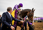 DEL MAR, CA - NOVEMBER 03:  Mendelssohn #1, ridden by  Ryan Moore wins the Sentient Jet Breeders' Cup Juvenile at Del Mar Thoroughbred Club on November 03, 2017 in Del Mar, California. (Photo by Alex Evers/Eclipse Sportswire/Breeders Cup)