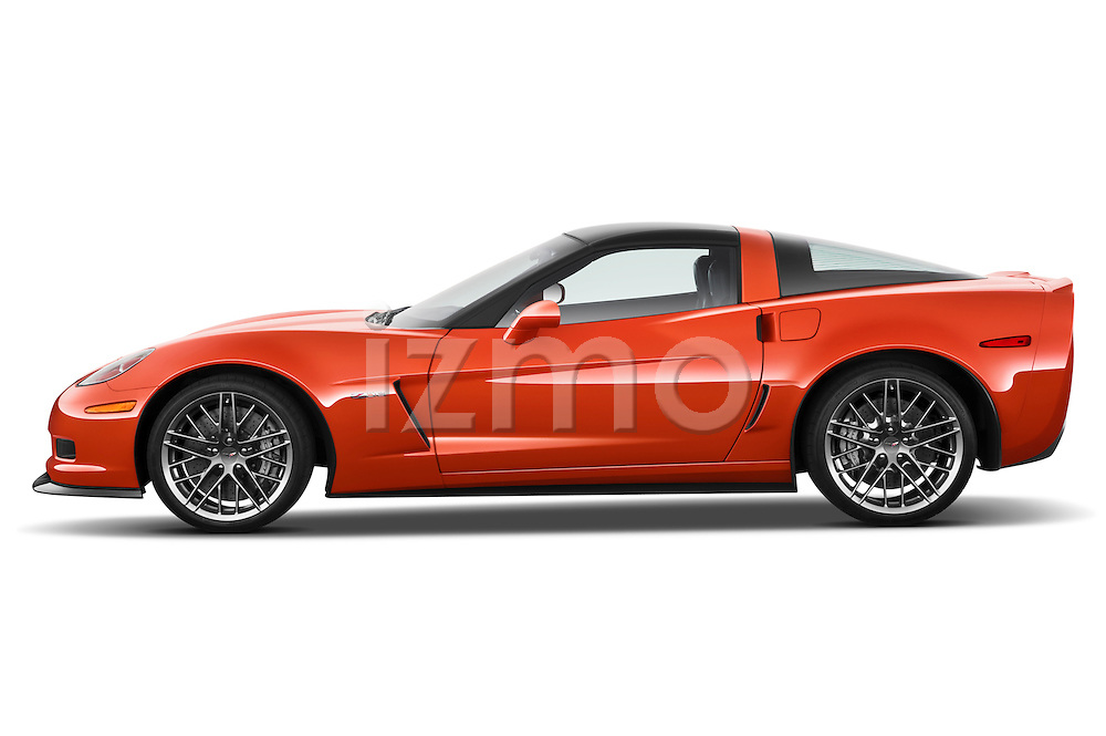 Driver side profile view of a 2011 Chevrolet Corvette Z06.