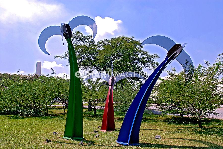 Jardim das esculturas no parque do Ibirapuera. São Paulo. 2007. Foto de Juca Martins.