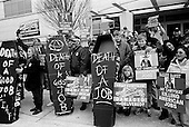 Detroit, Michigan<br /> USA<br /> January 16, 2010<br /> <br /> Auto union leaders and union members who recently lost their jobs in the Fiat/Chrysler merger hold a demonstration outside the North American International Auto Show at the Cob center in Detroit. <br /> <br /> Following a disastrous year that saw GM and Chrysler LLC forced into government-led bankruptcy. U.S. auto sales plunged to 39 percent below a peak in 2005 during the recent ill-founded economic boom. The big, unanswered question here, however, is what the U.S. economy will do following its longest, deepest downturn since the 1930s.<br /> <br /> Chrysler's exhibit on the convention floor was  dramatically scaled back from previous years. Chrysler's appearance, on the other hand, was more of a car wreck, critics said during press previews.