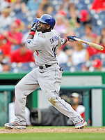 5 September 2011: Los Angeles Dodgers outfielder Tony Gwynn in action against the Washington Nationals at Nationals Park in Los Angeles, District of Columbia. The Nationals defeated the Dodgers 7-2 in the first game of their 4-game series. Mandatory Credit: Ed Wolfstein Photo
