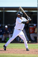 Seattle Mariners outfielder Brayan Hernandez (16) during an Instructional League game against the Milwaukee Brewers on October 4, 2014 at Peoria Stadium Training Complex in Peoria, Arizona.  (Mike Janes/Four Seam Images)