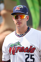 Fort Myers Miracle Mitch Garver (25) before a game against the St. Lucie Mets on April 19, 2015 at Hammond Stadium in Fort Myers, Florida.  Fort Myers defeated St. Lucie 3-2 in eleven innings.  (Mike Janes/Four Seam Images)
