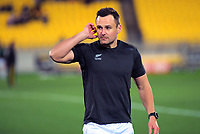 Referee James Doleman warms up for the Super Rugby Aotearoa match between the Hurricanes and Chiefs at Sky Stadium in Wellington, New Zealand on Saturday, 8 August 2020. Photo: Dave Lintott / lintottphoto.co.nz