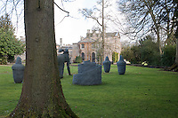 The grounds of Aynhoe Park which were originally laid out by Capability Brown are now home to a collection of contemporary sculpture by artist Sophie Ryder
