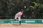 #19 Himeno Mayu of Japan serves during the BFA Women's Baseball Asian Cup match between Japan and Hong Kong at Sai Tso Wan Recreation Ground on September 5, 2017 in Hong Kong. Photo by Marcio Rodrigo Machado / Power Sport Images