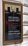 Theatre Marquee unveiling for Aaron Sorkin's adaptation of Harper Lee's classic novel 'To Kill A Mockingbird' starring Jeff Daniels and Celia Keenan-Bolger under the direction of Bartlett Sher on September 7, 2018 at the Shubert Theatre in New York City.