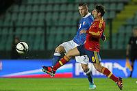 "Luca Marrone e Koke.Siena 13/11/2012 Stadio ""Franchi"".Football Calcio Nazionale U21.Italia v Spagna.Foto Insidefoto Paolo Nucci."