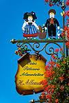 France, Alsace, Haut-Rhin, Guild Sign of a Bakery and Pastery   Frankreich, Elsass, Haut-Rhin, Zunftschild einer Baeckerei und Konditorei