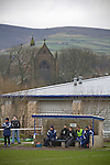 Glossop North End 0 Barnoldswick Town 1, 19/02/2011. Surrey Street, North West Counties League Premier Division. Glossop North End management and substitutes watching the action as their club play Barnoldswick Town in the Vodkat North West Counties League premier division at the Surrey Street ground. The visitors won the match by one goal to nil watched by a crowd of 203 spectators. Glossop North End celebrated their 125th anniversary in 2011 and were once members of the Football League in England, spending one season in the top division in 1899-00. Photo by Colin McPherson.