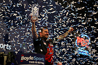 9th October 2021; Morningside Arena, Leicester, England; PDC BoyleSports Darts World Grand Prix finals ; Jonny Clayton celebrates as he wins the Boylesports World Grand Prix
