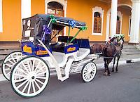 Horse drawn taxi in Granada , Nicaragua.