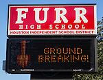 Furr High School ground breaking, October 29, 2015.