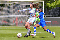 Amber Tysiak (3) of OHL and Lakeesha Eikjken (7) of AA Gent pictured during a female soccer game between AA Gent Ladies and Oud Heverlee Leuven on the fourth matchday of play off 1 in the 2020 - 2021 season of Belgian Scooore Womens Super League , saturday 1 st of May 2021  in Oostakker , Belgium . PHOTO SPORTPIX.BE | SPP | STIJN AUDOOREN