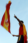 02.07.2012. Arbeloa during Tour of Madrid of the Spanish football team to celebrate their victory in Euro 2012 july 2012.(ALTERPHOTOS/ARNEDO)
