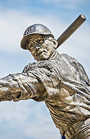 """20 May 2014: A bronze statue of former Washington Senators slugger Frank """"Hondo"""" Howard is on display at Nationals Park in Washington, DC. Sculpted by artist Omri Amrany, the work was commissioned by the DC Creates Public Art Program in 2009. Mandatory Credit: Ed Wolfstein Photo *** RAW (NEF) Image File Available ***"""