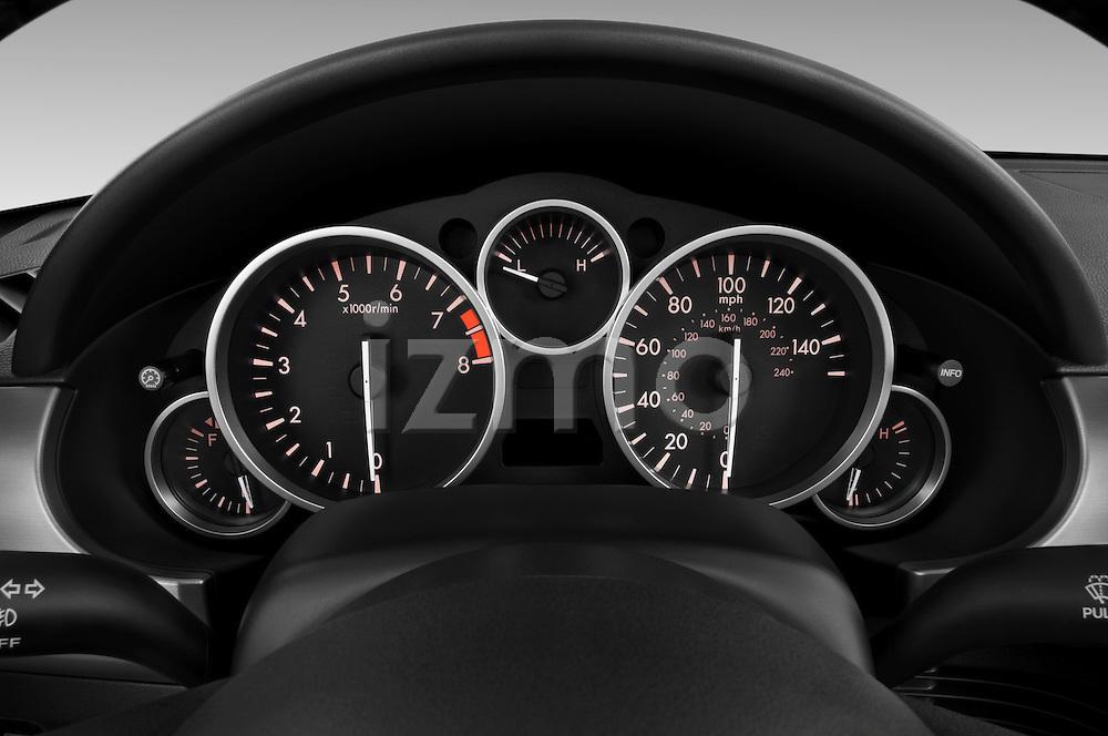 Instrument panel close up detail view of a 2010 Mazda Miata MX5