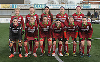 20160116 - ZULTE , BELGIUM : team of Zulte-Waregem  pictured during a soccer match between the women teams of ZULTE-WAREGEM and AA GENT B  , during the fifteenth matchday in the First League - Eerste Nationale season, Saturday 16 January 2016 . PHOTO DIRK VUYLSTEKE