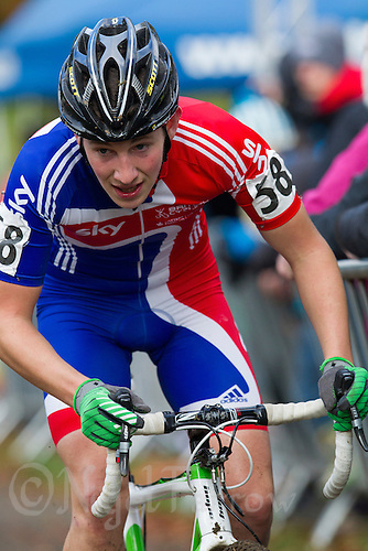 03 NOV 2012 - IPSWICH, GBR - Jack Clarkson (GBR) of Great Britain makes his way round the course during the Under 23 Men's European Cyclo-Cross Championships in Chantry Park, Ipswich, Suffolk, Great Britain (PHOTO (C) 2012 NIGEL FARROW)