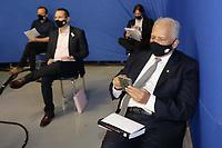 Campinas (SP), 01/10/2020 - Eleições/Debate - Nove candidatos a prefeito de Campinas (SP) se enfrentam nesta quinta-feira (01) no primeiro debate promovido pela Band. Alessandra Ribeiro (PCdoB), André Von Zuben (Cidadania), Artur Orsi (PSD), Dário Saadi (Republicanos), Delegada Teresinha (PTB), Dr. Hélio (PDT), Rafa Zimbaldi (PL), Pedro Tourinho (PT) e Wilson Matos (Patriota) irão apresentar suas propostas e serão confrontados pelos seus adversários. Esse grupo integra os partidos que têm cinco representantes no Congresso Nacional.<br /> Na foto: Dr Hélio - PDT