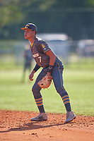 Kendrey Maduro (7) during the WWBA World Championship at Lee County Player Development Complex on October 9, 2020 in Fort Myers, Florida.  Kendrey Maduro, a resident of Pos Chiquito, Aruba who attends TNXL Academy.  (Mike Janes/Four Seam Images)
