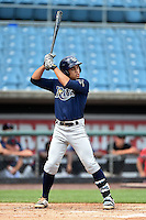 Desmond Lindsay (3) of Out-of-Door Academy in Bradenton, Florida playing for the Tampa Bay Rays scout team during the East Coast Pro Showcase on July 31, 2014 at NBT Bank Stadium in Syracuse, New York.  (Mike Janes/Four Seam Images)