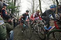 Edvald Boasson Hagen (NOR) up the Muur van Geraardsbergen<br /> <br /> Omloop Het Nieuwsblad 2014
