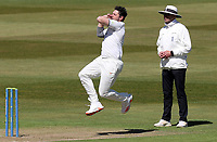 Tim Bresnan of Warwickshire in bowling action during Warwickshire CCC vs Essex CCC, LV Insurance County Championship Group 1 Cricket at Edgbaston Stadium on 22nd April 2021