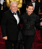 HOLLYWOOD, LOS ANGELES, CA, USA - MARCH 02: Stacy Keach, Malgosia Tomassi at the 86th Annual Academy Awards held at Dolby Theatre on March 2, 2014 in Hollywood, Los Angeles, California, United States. (Photo by Xavier Collin/Celebrity Monitor)