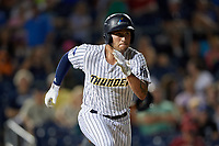 Trenton Thunder Brandon Wagner (10) runs to first base during an Eastern League game against the New Hampshire Fisher Cats on August 20, 2019 at Arm & Hammer Park in Trenton, New Jersey.  New Hampshire defeated Trenton 7-2.  (Mike Janes/Four Seam Images)