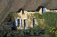 Europe/France/Pays de la Loire/44/Loire-Atlantique/Parc Naturel Régional de Brière/Kerhinet: Chaumière
