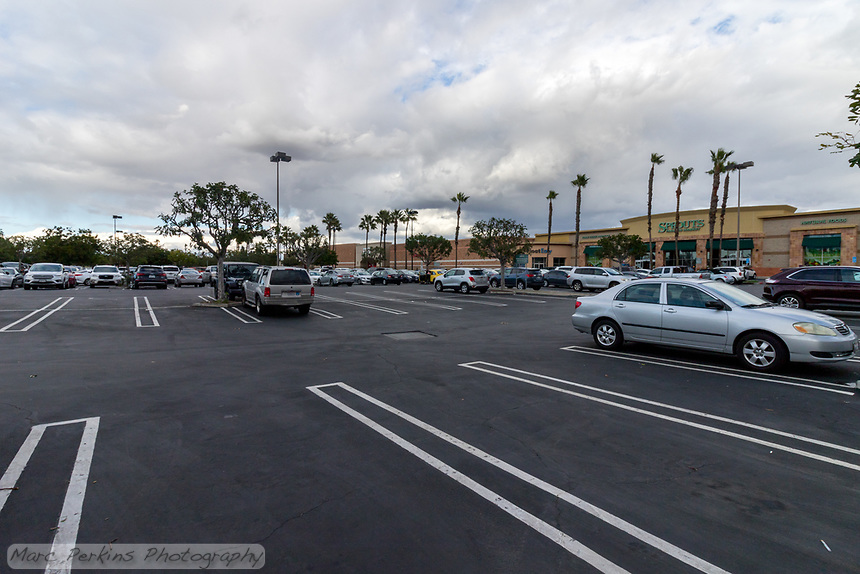 """The Target shopping center (""""Costa Mesa Square"""") in Costa Mesa, CA on Black Friday 2019."""