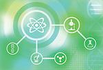 Illustration of scientific research and development