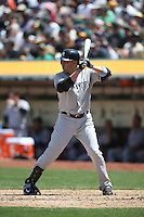 OAKLAND, CA - JUNE 15:  Carlos Beltran #36 of the New York Yankees bats against the Oakland Athletics during the game at O.co Coliseum on Sunday, June 15, 2014 in Oakland, California. Photo by Brad Mangin