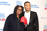 PHILADELPHIA, PA - OCTOBER 28: Whoopi Goldberg pictured backstage with John Legend  at Philly Fights Cancer round 3 at The Navy Yard in Philadelphia, Pa on October 28, 2017  Credit: Star Shooter/MediaPunch /NortePhoto.com